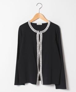【大きいサイズ/アンサンブル対応】ARINA ビーズ刺繍カーディガン