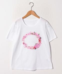 【大きいサイズ】【洗える】オリジナルプリント/コットン天竺Tシャツ