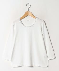 【大きいサイズ】ANA 襟ぐりビーズ刺繍プルオーバー