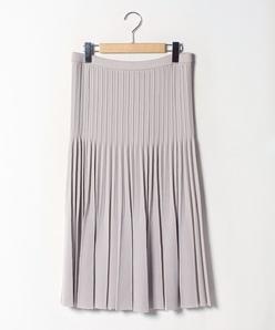 【大きいサイズ】プリーツニットスカート
