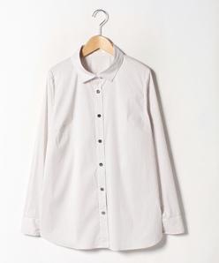 【大きいサイズ】【洗える】 シャツ/コットンブロードストレッチ