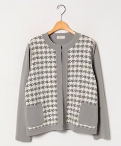 【大きいサイズ】NADIA 異素材使いジャケット