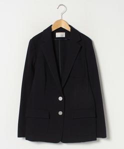 【大きいサイズ】リップルジャージー/テーラードジャケット