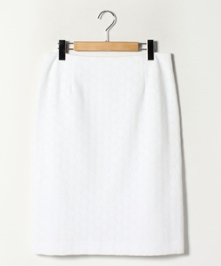 【大きいサイズ】【セットアップ対応】透かしジャガードジャージー スカート