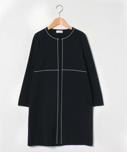 【大きいサイズ】【アンサンブル対応】ミラノリブ ロングニットジャケット