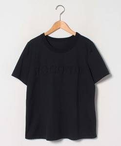 【大きいサイズ】【洗える】エンボス ロゴTシャツ