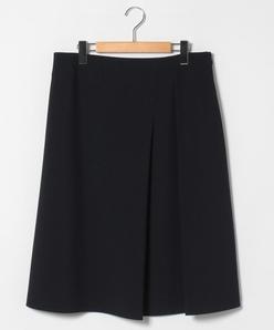 【大きいサイズ】2WAYストレッチ タックフレアスカート