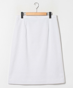 【大きいサイズ】【セットアップ対応】スカート/ドット柄ジャカードストレッチ