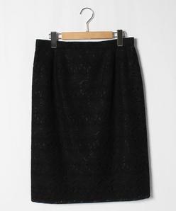 【大きいサイズ】花柄刺繍スカート