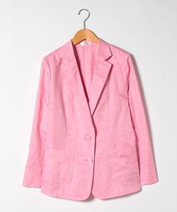 【大きいサイズ】綿麻シャンブレー ジャケット