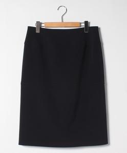 【大きいサイズ】ストレッチツイル 切り替えタイトスカート