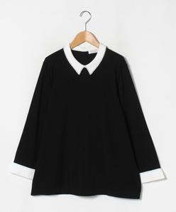 【大きいサイズ】ARINA 刺繍襟プルオーバー