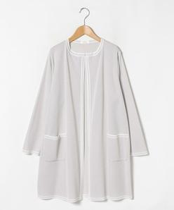【大きいサイズ】【アンサンブル対応】シルク混ミラノリブ ニットジャケット