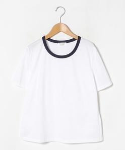 【大きいサイズ】【アンサンブル対応】コンパクトコットンクールローレル天竺 クルーネックTシャツ