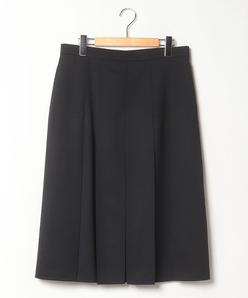 【大きいサイズ】ボックスプリーツスカート ストレッチツイル