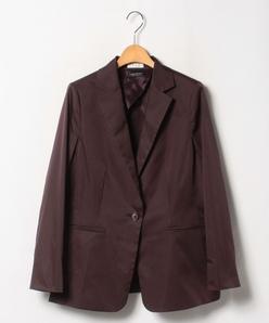 【セットアップ対応】【大きいサイズ】ストレッチタフタ テーラードジャケット