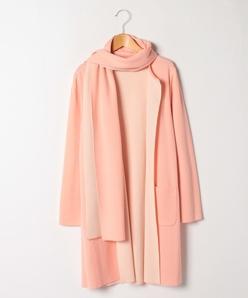 【大きいサイズ】NADIA リバーシブル編み ニットジャケット