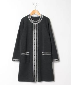 【大きいサイズ】【セットアップ対応】NADIA ミラノリブ ニットジャケット