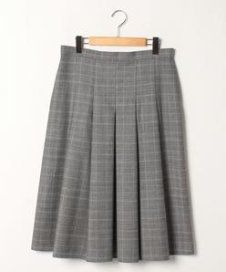 【大きいサイズ】マイクロウォッチグレンチェック ソフトプリーツスカート