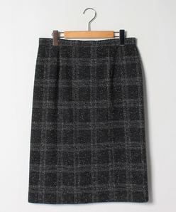 【大きいサイズ】ツイードジャージー タイトスカート