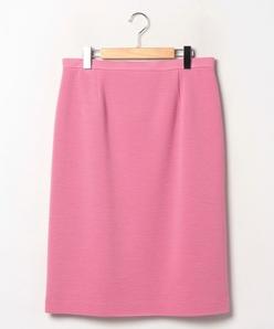 【大きいサイズ】【セットアップ対応】リップルジャージー タイトスカート