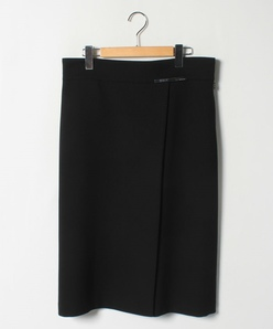【大きいサイズ】トリアセテート混ジョーゼット Aラインスカート