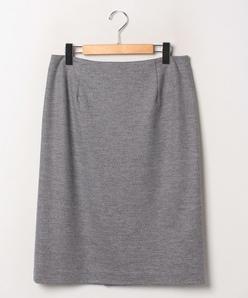 【大きいサイズ】【セットアップ対応】ウールツイードジャージー タイトスカート