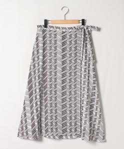 【大きいサイズ】巻き風フィッシュテールスカート