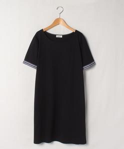【大きいサイズ】【洗える】スーピマコットンポンチ チュニック丈Tシャツ