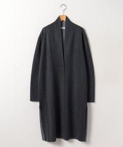 【大きいサイズ】リバーシブル編み カーディガン