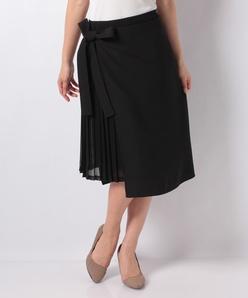 【2WAY】プリーツスカート×ラップ風スカート