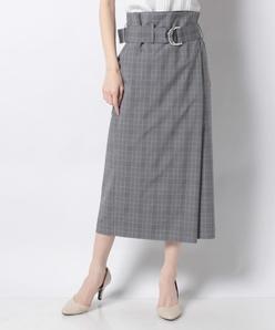 ラップロングスカート/ベルト付き