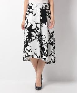 フラワープリント フィッシュテールスカート