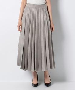 ソフトスエード プリーツスカート