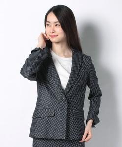 【セットアップ対応】 ジャカードジャージー テーラードジャケット