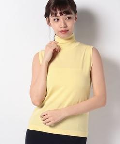 【アンサンブル対応】16G天竺編み タートルネック ニットプルオーバー