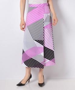 巻き風プリントスカート