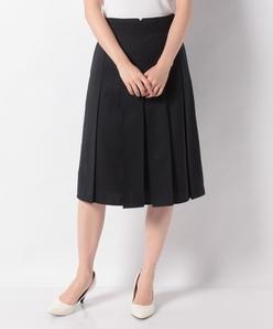 ストレッチツイル ボックスプリーツスカート