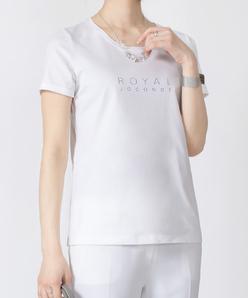 【洗える】オーガニックコットン天竺 プリントTシャツ