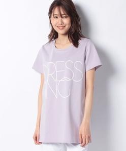 【洗える】オーガニックコットン天竺/スワイ-スワイ天竺 プリントチュニックTシャツ