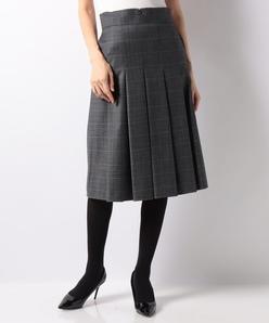 マイクロウォッチグレンチェック ソフトプリーツスカート