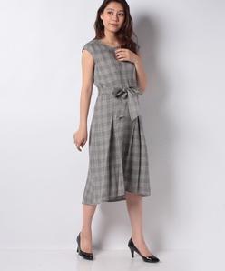 デラべスタイル グレンチェックドレス