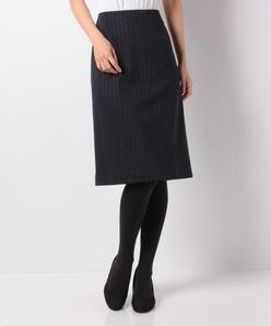 【セットアップ対応】ダブルジャージ―ストライプタイトスカート