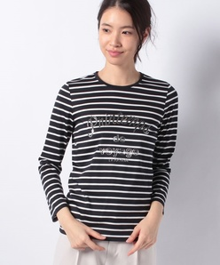 プリントボーダーTシャツ