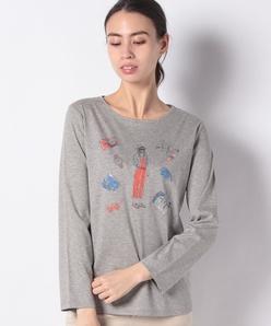 スーピマスムースプリントTシャツ
