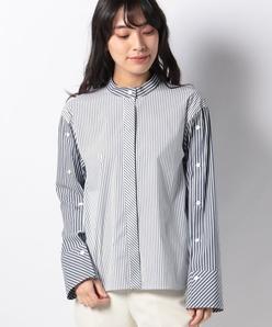 【洗える】ブロードストライプシャツ