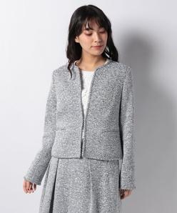 【セットアップ対応】ファンシーツィードジャケット