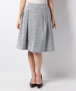 【セットアップ対応】ファンシーツィードフレアスカート