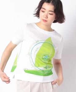 【洗える】ソフトフライス プリントTシャツ