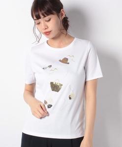 【接触冷感】スーピマスムース エンブロイダリーTシャツ
